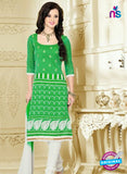 NS12216 Green and White Chudidar Suit