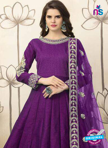 Aanaya 26001 Purple Anarkali Suit