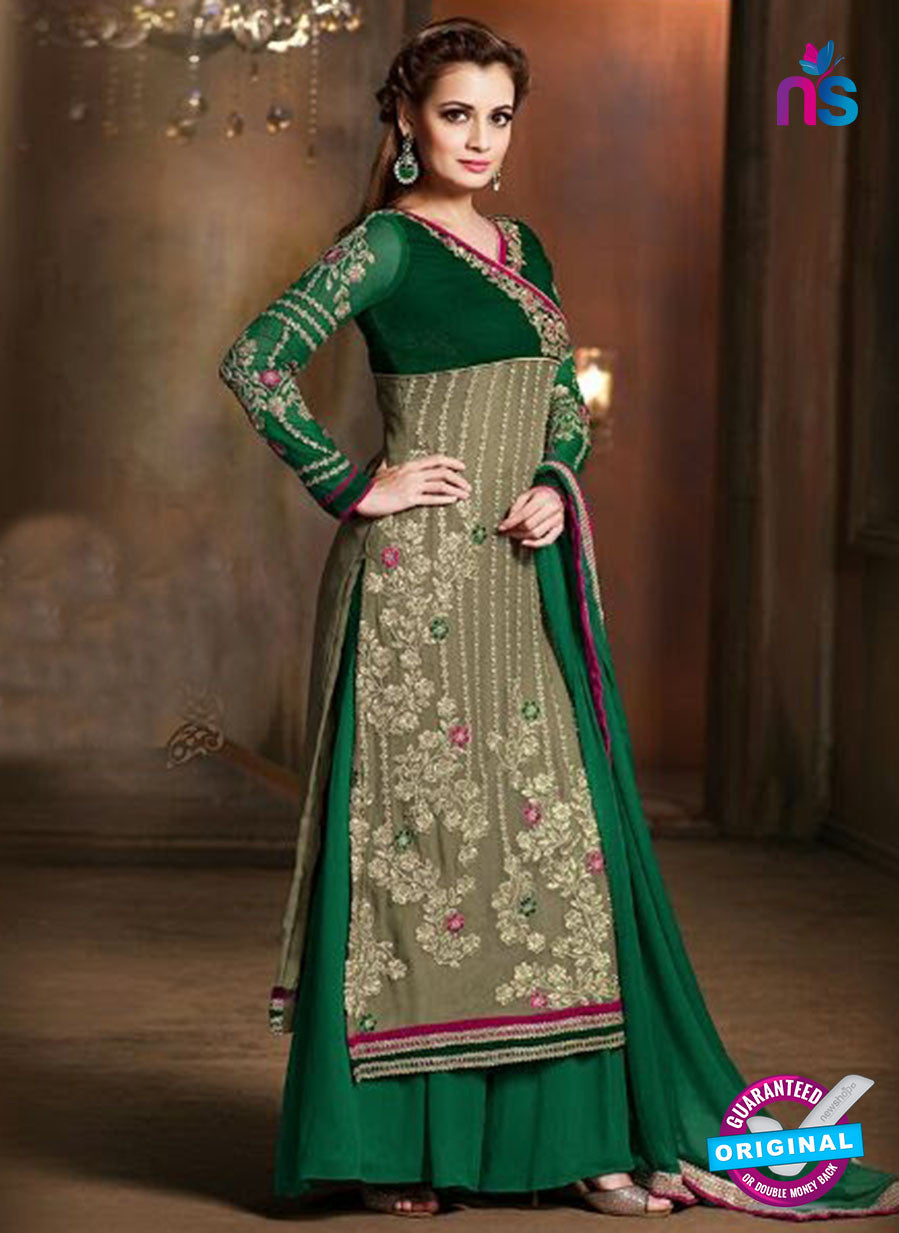 SC 12817 Green and Mehandi Green Pure Chiffon Party Wear Designer Suit