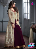 Maskeen 2602 Grey and Purple Velvet Fancy Designer Suit