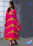 NS10475 Yellow and Pink Anarkali Suit