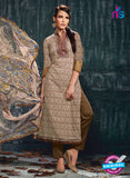 Varsha 2615 Green & Brown Color Cotton Designer Suit