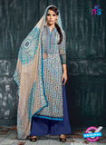 Varsha 2616 Blue & Grey Color Cotton Designer Suit