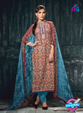 Varsha 2617 Blue & Maroon Color Cotton Designer Suit