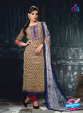 Varsha 2618 Brown & Maroon Color Cotton Designer Suit
