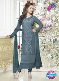 Fiona 2622 Grey Faux Georgette Party Wear Straight Suit