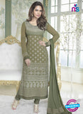 Fiona 2624 Green Faux Georgette Party Wear Straight Suit