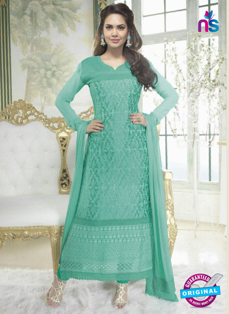 Fiona 2625 Sea Green Faux Georgette Party Wear Straight Suit