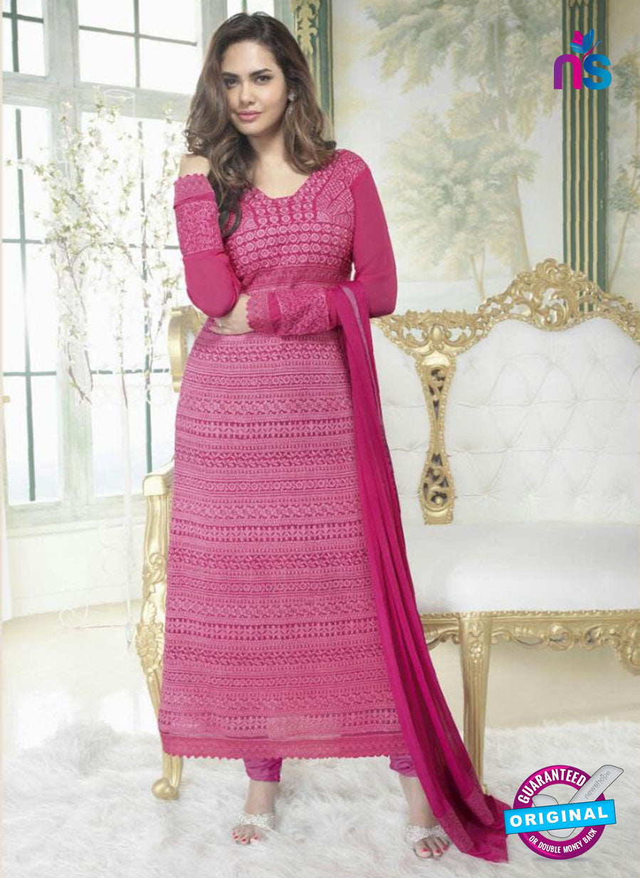 Fiona 2626  Pink Faux Georgette Party Wear Straight Suit