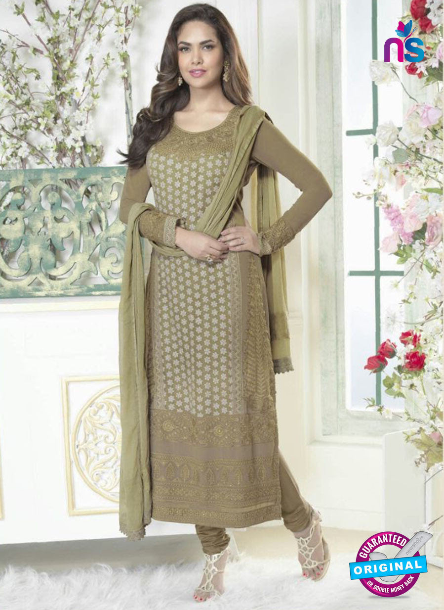 Fiona 2627 Green Faux Georgette Party Wear Straight Suit