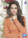 Fiona 2629 Orange Faux Georgette Party Wear Straight Suit