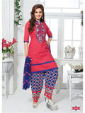 NS11669 Pink & Blue Cotton Patiyala Suit