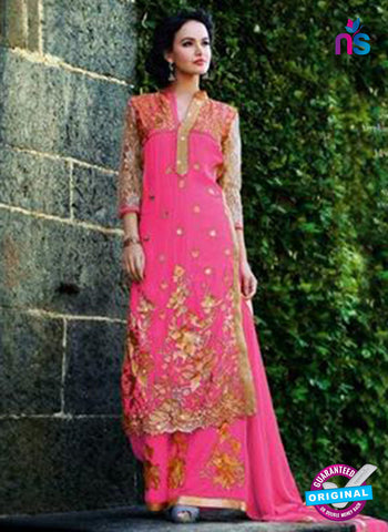 NS12264 Pink and Golden Plazo Suit