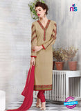 Ruhab 2700 Beige and Maroon Embroidered Georgette Party Wear Suit