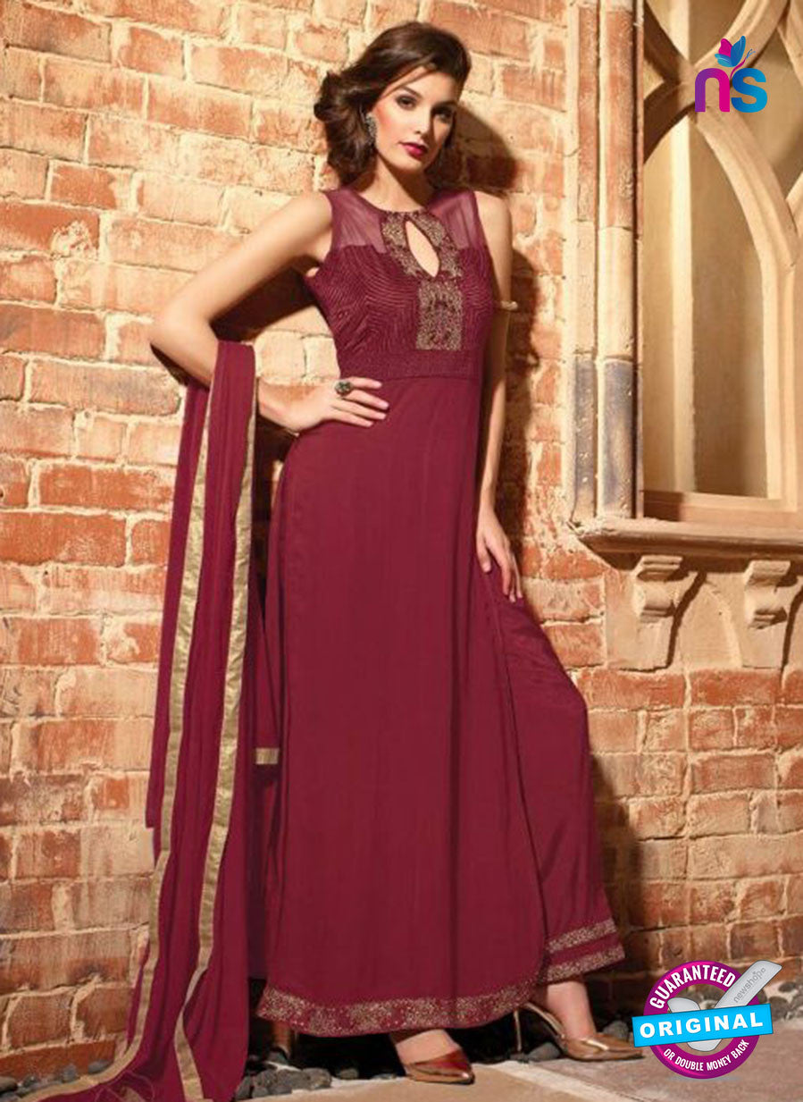 Maskeen 2701-Maroon Color Georgette Designer Suit