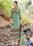 Kalakirti 2702 Green and Multicolor Printed Cotton Suit
