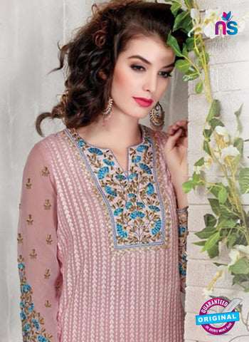 AZ 2305 Pink Embroidered Georgette Party Wear Suit - Salwar Suits - NEW SHOP