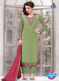 Ruhab 2703 Green Embroidered Georgette Party Wear Suit