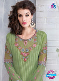 Ruhab 2703 Green Embroidered Georgette Party Wear Suit Online