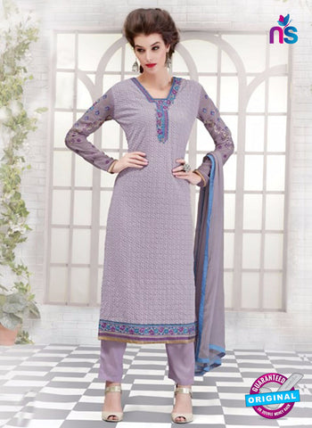 Ruhab 2704 Purple Embroidered Georgette Party Wear Suit