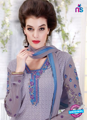 Ruhab 2704 Purple Embroidered Georgette Party Wear Suit Online