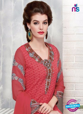 Ruhab 2705 Pink Embroidered Georgette Party Wear Suit Online