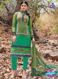 Kalakirti 2706 Dark Green and Light Green Printed Cotton Suit
