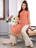 Karma 2706 Peach & White Color Georgette Designer Suit