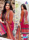 Kalakirti 2710 Multicolor and Pink Printed Cotton Suit