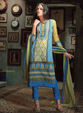 Ganga 2735 Yellow Color Cotton Designer Suit