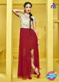 AZ 2272 Beige and Maroon Georgette Party Wear Tunic