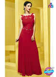 AZ 2273 Red Georgette Party Wear Gawn