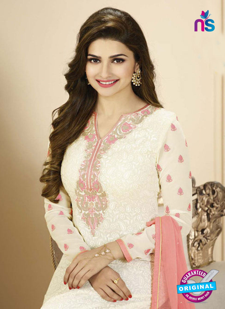 Vinay Fashion 2767 White and Pink Georgette Designer Suit