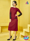 AZ 2274 Maroon Georgette Party Wear Kurti