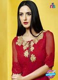 AZ 2275 Red Georgette Party Wear Tunic - Kurtis - NEW SHOP