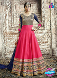 SC 12803 Pink and Blue Pure Embroidered Georgette Party Wear Anarkali Suit