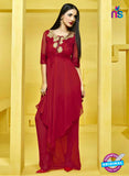 AZ 2275 Red Georgette Party Wear Tunic