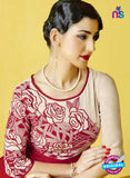 AZ 2276 Beige and Red Georgette Party Wear Tunic - Kurtis - NEW SHOP