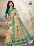 SC 14223 Beige Cotton Silk Formal Saree