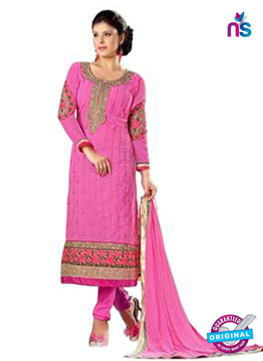 NS12265 Pink and Golden Straight Suit