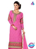 NS12265 Pink and Golden Straight Suit Online