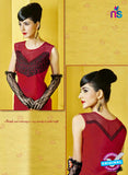 AZ 2278 Red Georgette Party Wear Kurti