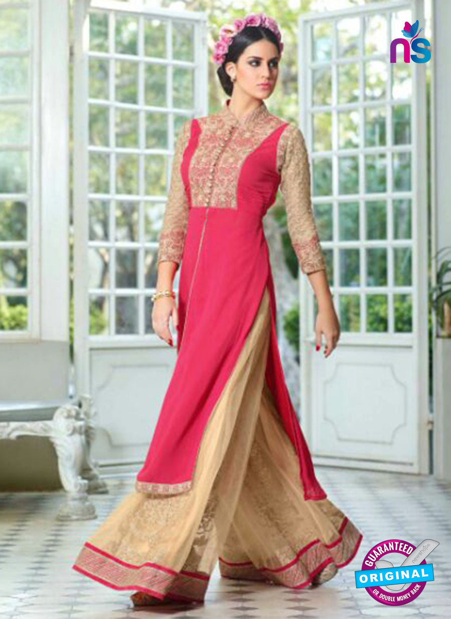 Mohini Glamour 28003 Net Georgette Beige and Pink Suit