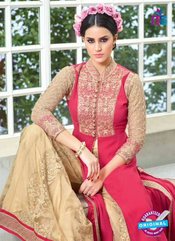 Mohini Glamour 28003 Net Georgette Beige and Pink Suit Online Shopping