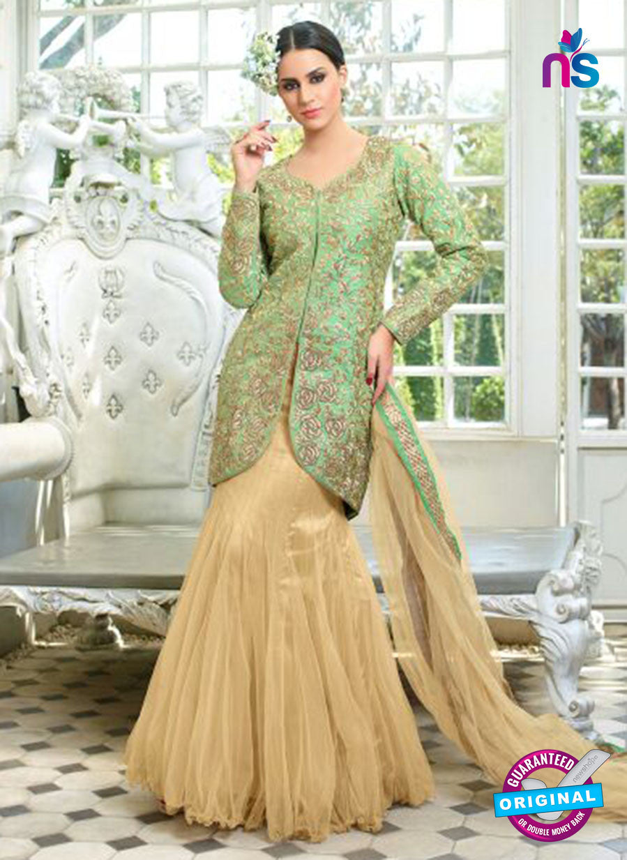 Mohini Glamour 28005 Beige and Blue Color Net Suit
