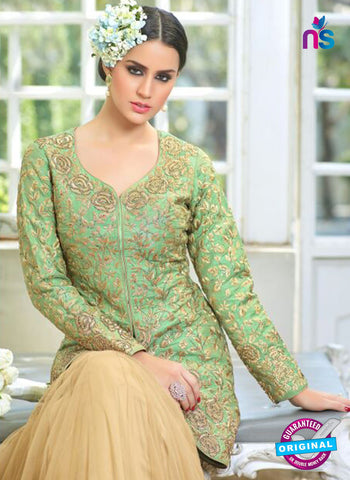 Buy Mohini Glamour 28005 Beige and Blue Color Net Suit