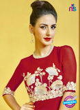 AZ 2279 Red Georgette Party Wear Kurti - Kurtis - NEW SHOP