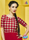AZ 2280 Red and Beige Georgette Party Wear Tunic - Kurtis - NEW SHOP