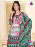 NS12266 Pink and Green Chudidar Suit Online