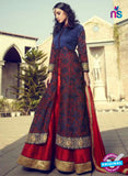 Mohini 29001 Blue and Maroon Silk Plazo Suit